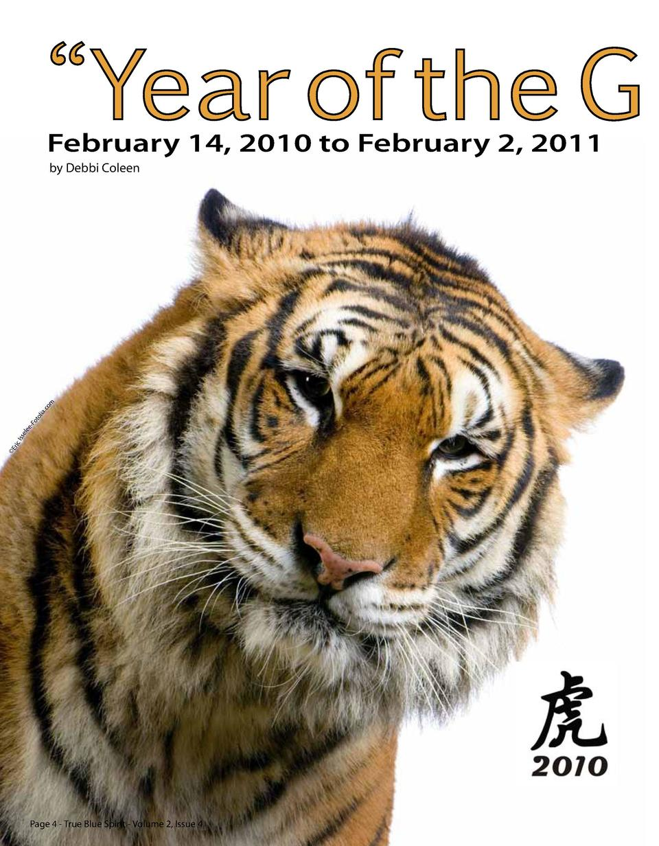 Year of the G  February 14, 2010 to February 2, 2011  Er  ic I  sse le e  -F ot ol ia. co m  by Debbi Coleen      Page ...