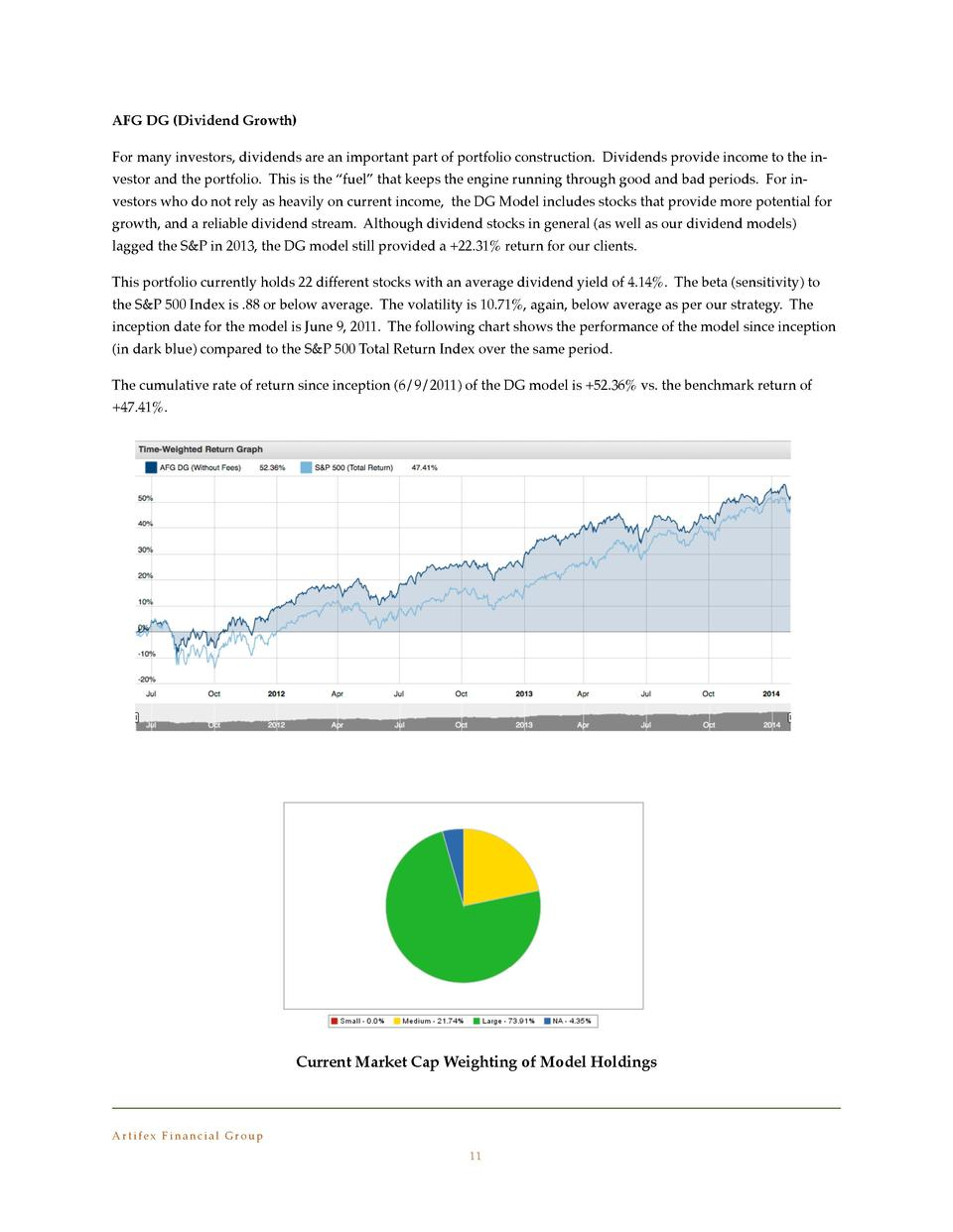 AFG DG  Dividend Growth   For many investors, dividends are an important part of portfolio construction. Dividends provide...