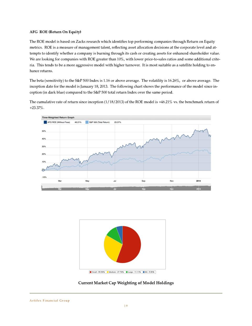 AFG ROE  Return On Equity   The ROE model is based on Zacks research which identi   es top performing companies through Re...