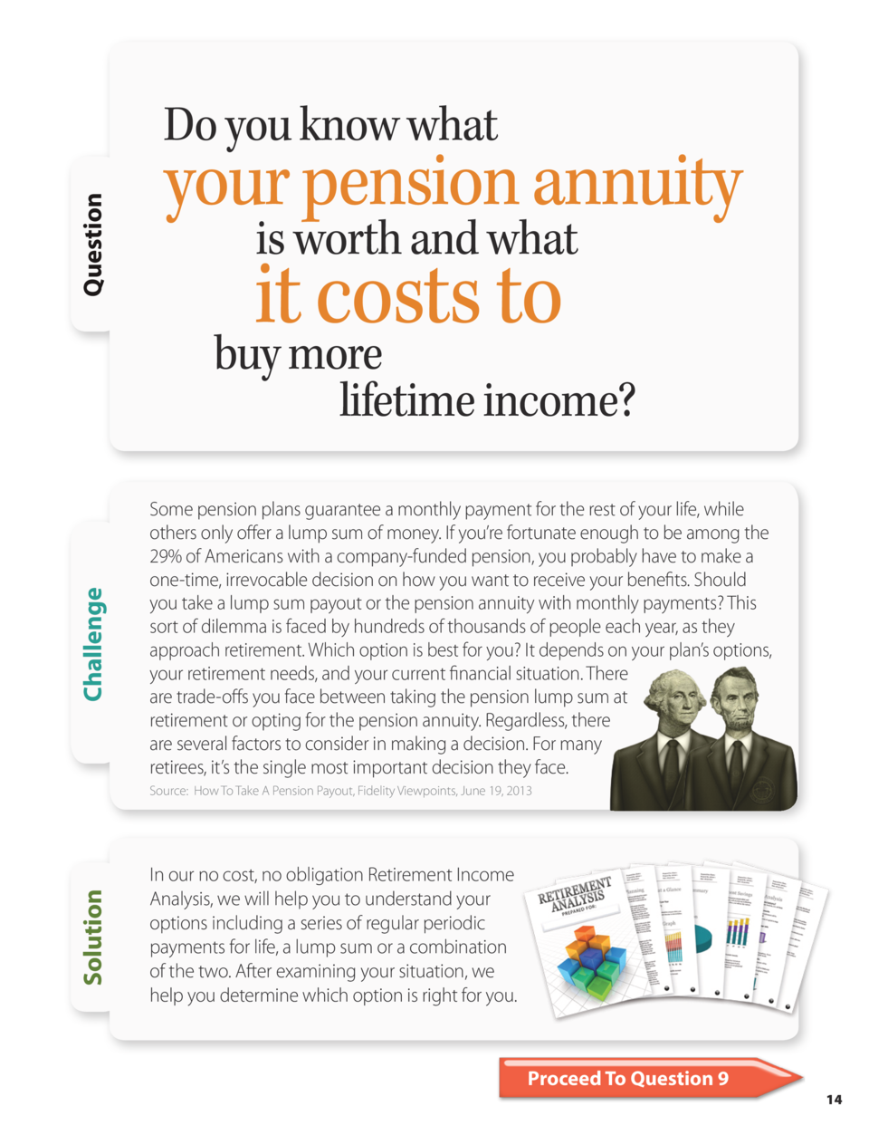 Question  Do you know what  your pension annuity is worth and what  it costs to  Challenge  buy more lifetime income  Some...