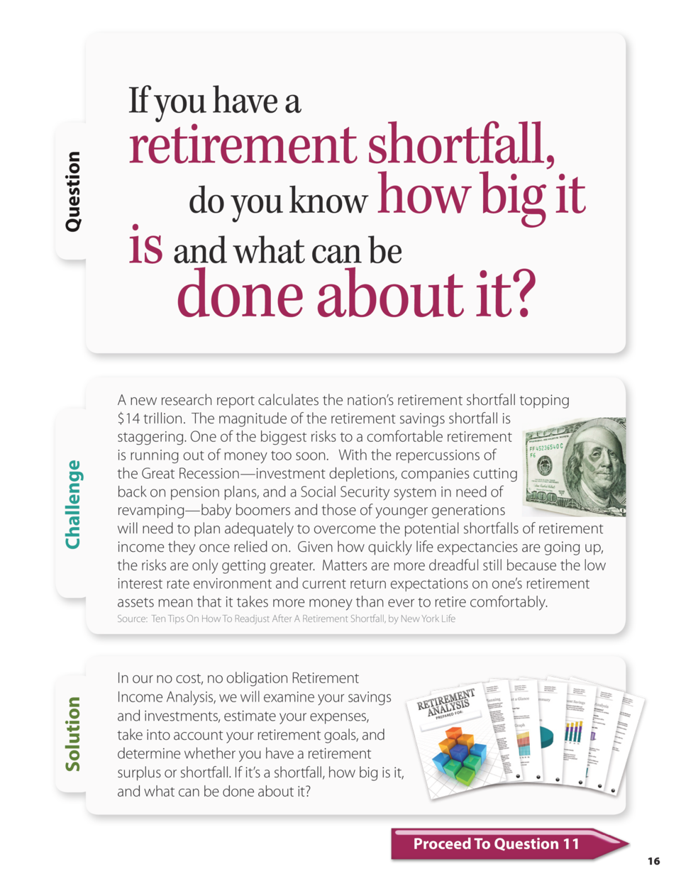 Question  If you have a  retirement shortfall, do you know how big it is and what can be  Challenge  done about it   A new...