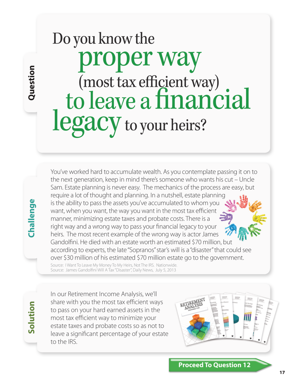 Challenge  Question  Do you know the  proper way  most tax efficient way  to leave a financial legacy to your heirs  You  ...