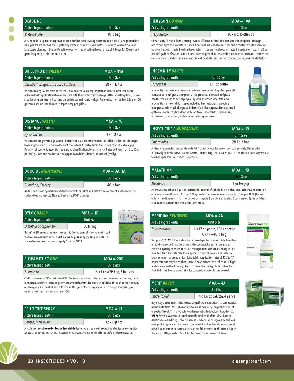 Clesen Vol 10 Product Guide The 39through Looking Glass39 Circuit Board Insect By Dewleaf Deadline Hexygon Gowan Active Ingredient S Unit Size Metaldehyde Lb Bag Hexythiazox