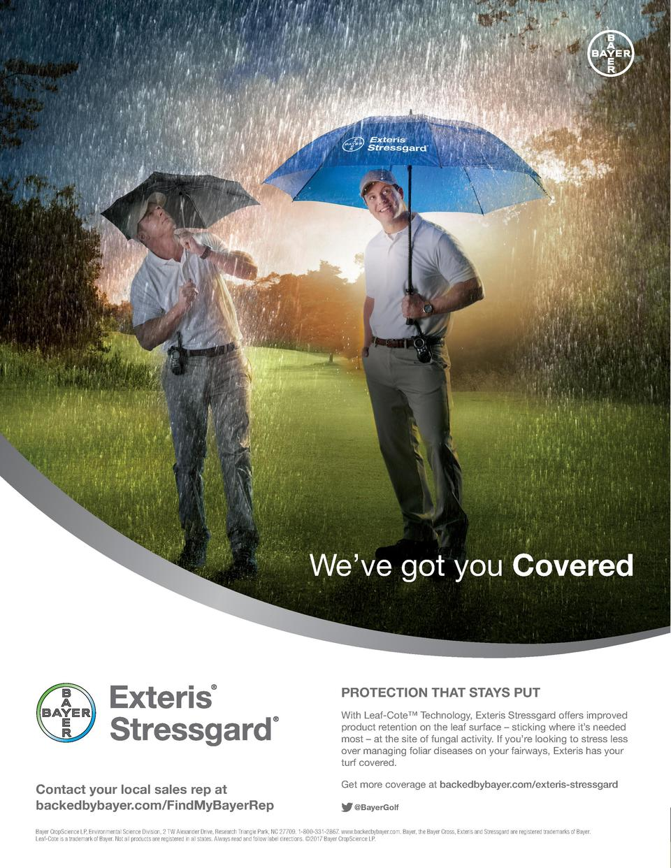 We   ve got you Covered  PROTECTION THAT STAYS PUT With Leaf-Cote    Technology, Exteris Stressgard offers improved produc...