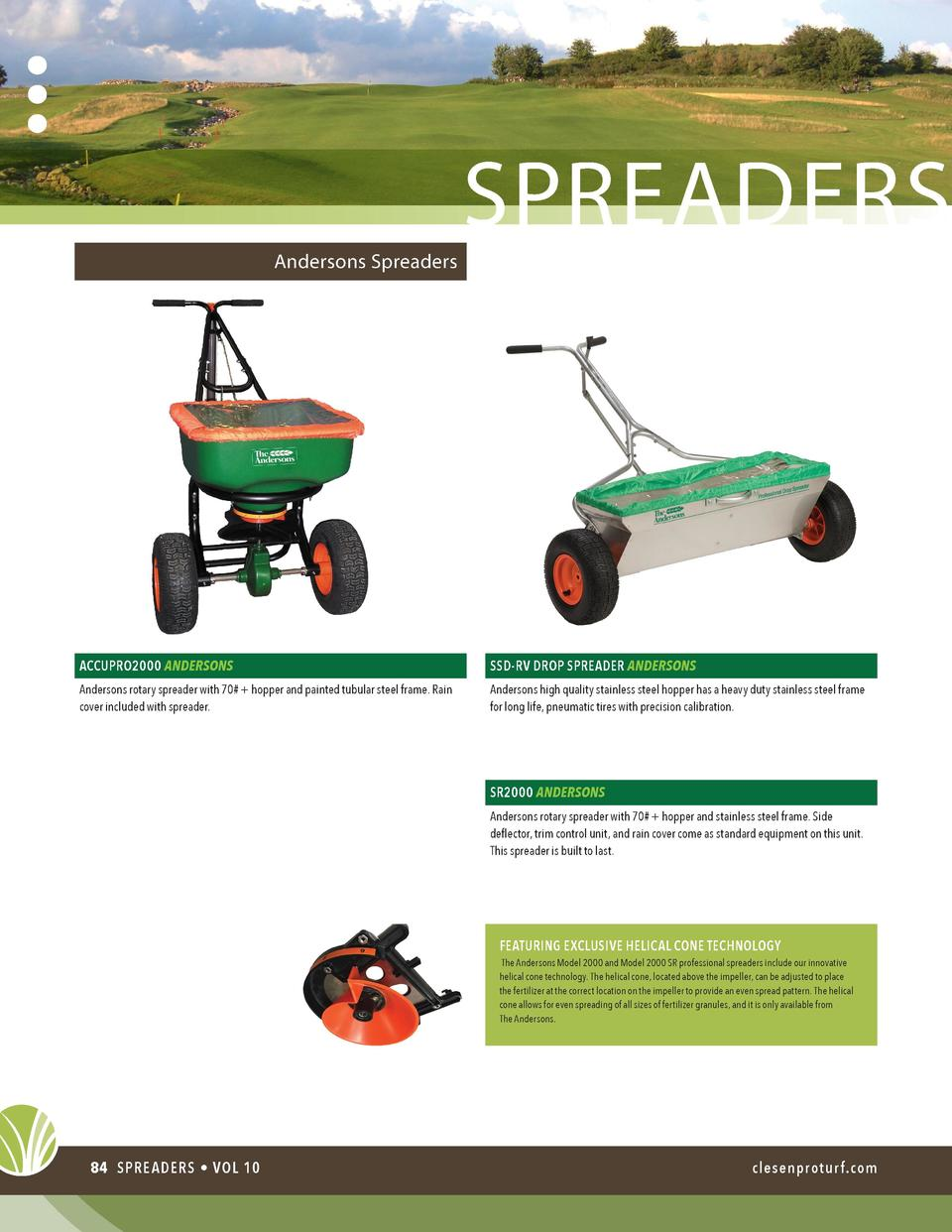 Andersons Spreaders  spreaders  ACCUPRO2000 ANDERSONS  SSD-RV DROP SPREADER ANDERSONS  Andersons rotary spreader with 70  ...