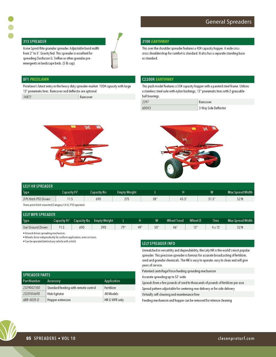 General Spreaders 313 SPREADER  3100 EARTHWAY  Acme Spred-Rite granular spreader. Adjustable band width from 2    to 3   ....