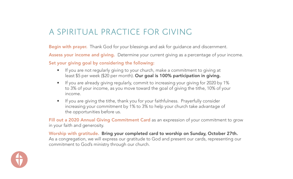 A Spiritual Practice for Giving Begin with prayer. Thank God for your blessings and ask for guidance and discernment. Asse...
