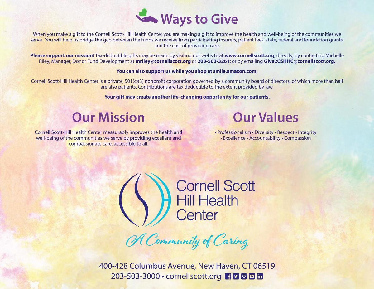 Ways to Give When you make a gift to the Cornell Scott-Hill Health Center you are making a gift to improve the health and ...