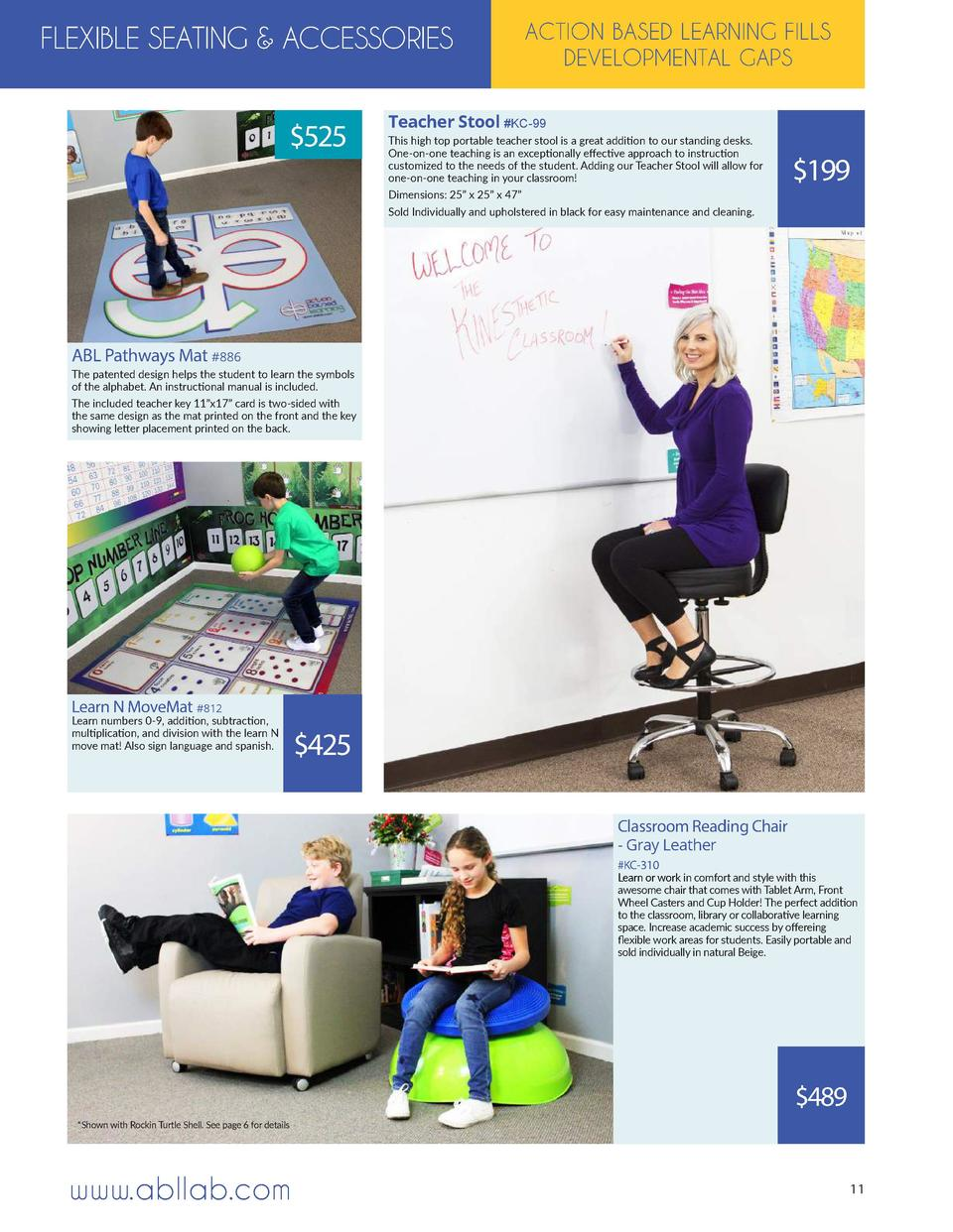 FLEXIBLE SEATING   ACCESSORIES   525  ACTION BASED LEARNING FILLS DEVELOPMENTAL GAPS  Teacher Stool  KC-99 This high top p...