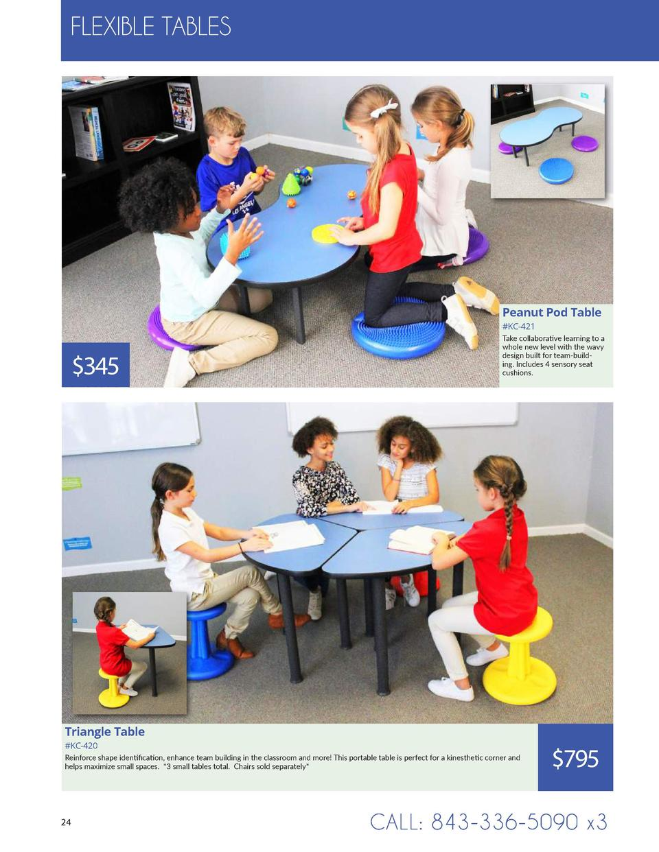 FLEXIBLE TABLES  Peanut Pod Table  KC-421   345  Take collaborative learning to a whole new level with the wavy design bui...