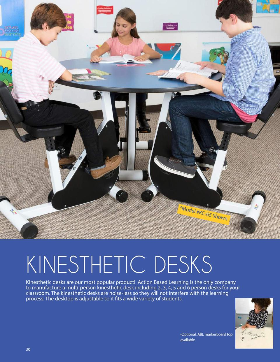 Mod el  KC -65 Sh own  KINESTHETIC DESKS Kinesthetic desks are our most popular product  Action Based Learning is the onl...