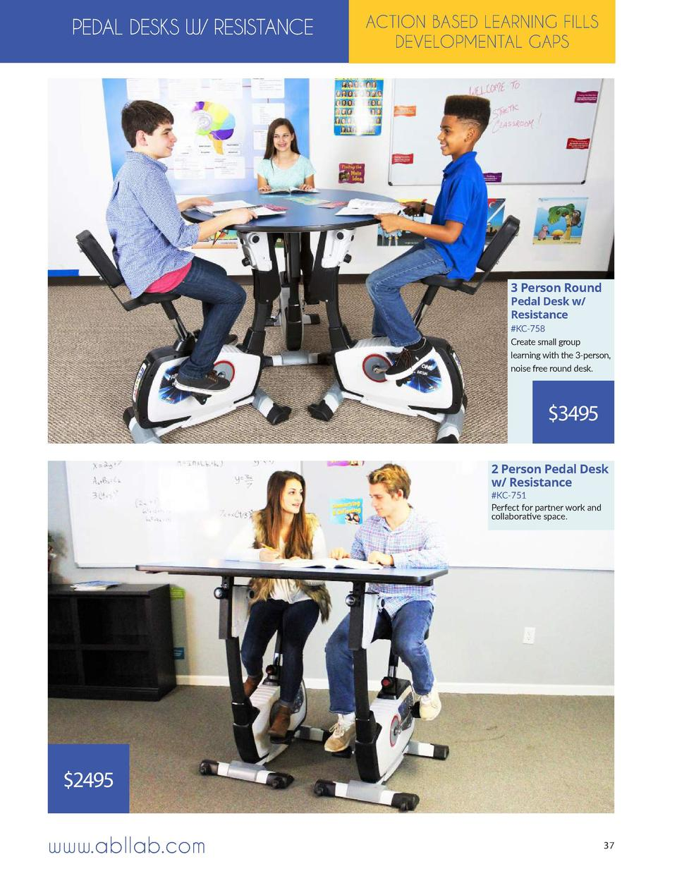 PEDAL DESKS W  RESISTANCE  ACTION BASED LEARNING FILLS DEVELOPMENTAL GAPS  3 Person Round Pedal Desk w  Resistance   KC-75...