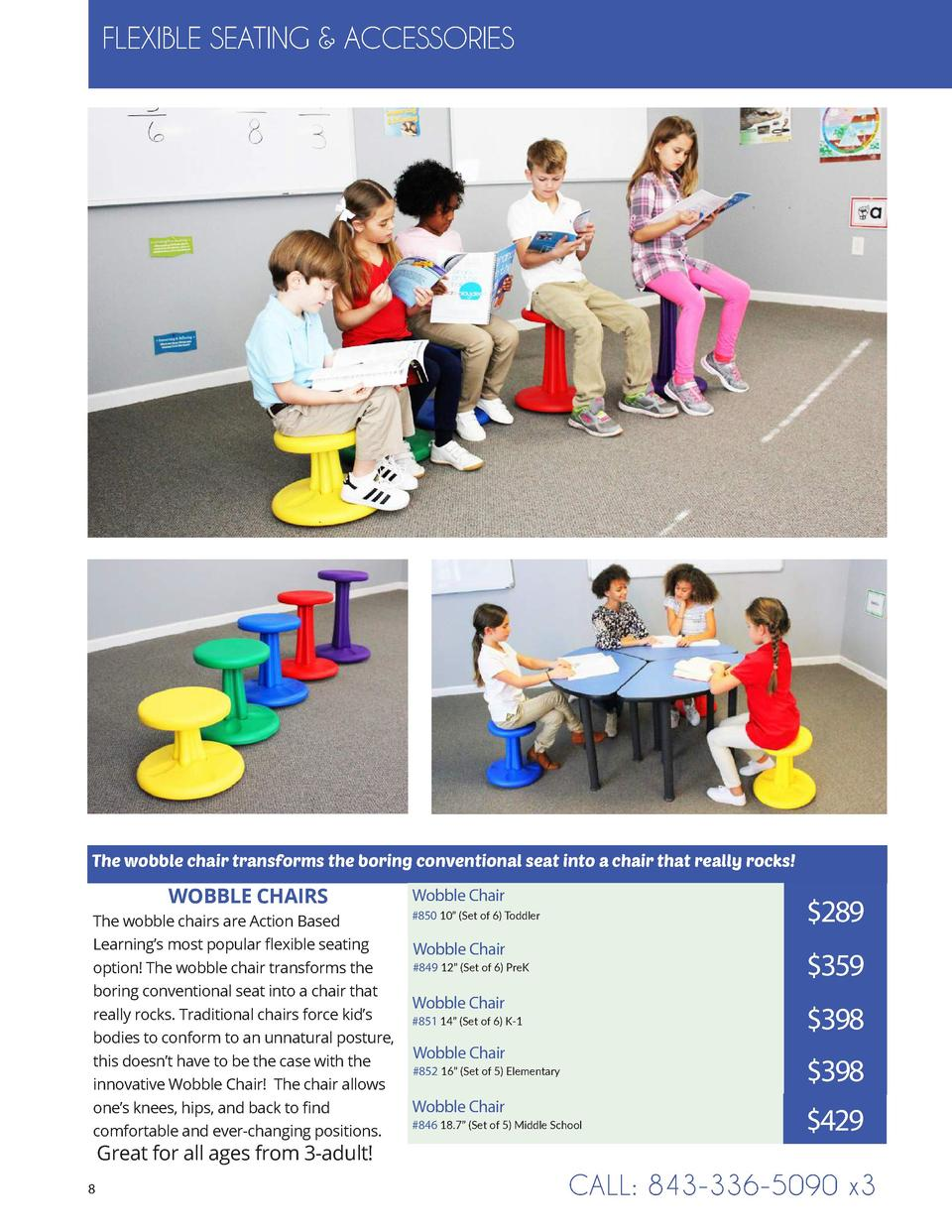 FLEXIBLE SEATING   ACCESSORIES  The wobble chair transforms the boring conventional seat into a chair that really rocks   ...