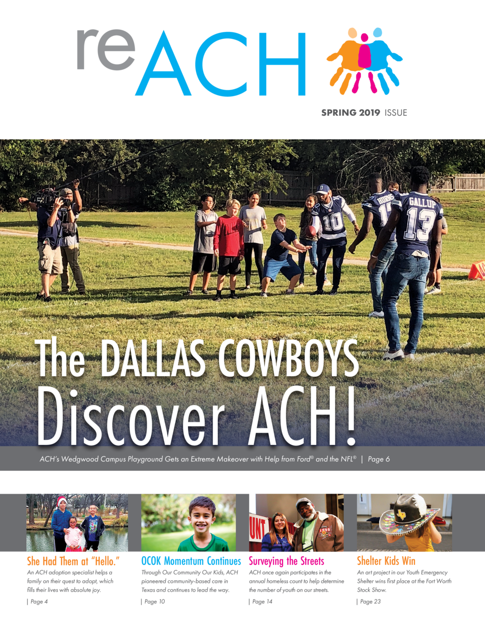 reACH  SPRING 2019 ISSUE  The DALLAS COWBOYS  Discover ACH   ACH   s Wedgwood Campus Playground Gets an Extreme Makeover w...