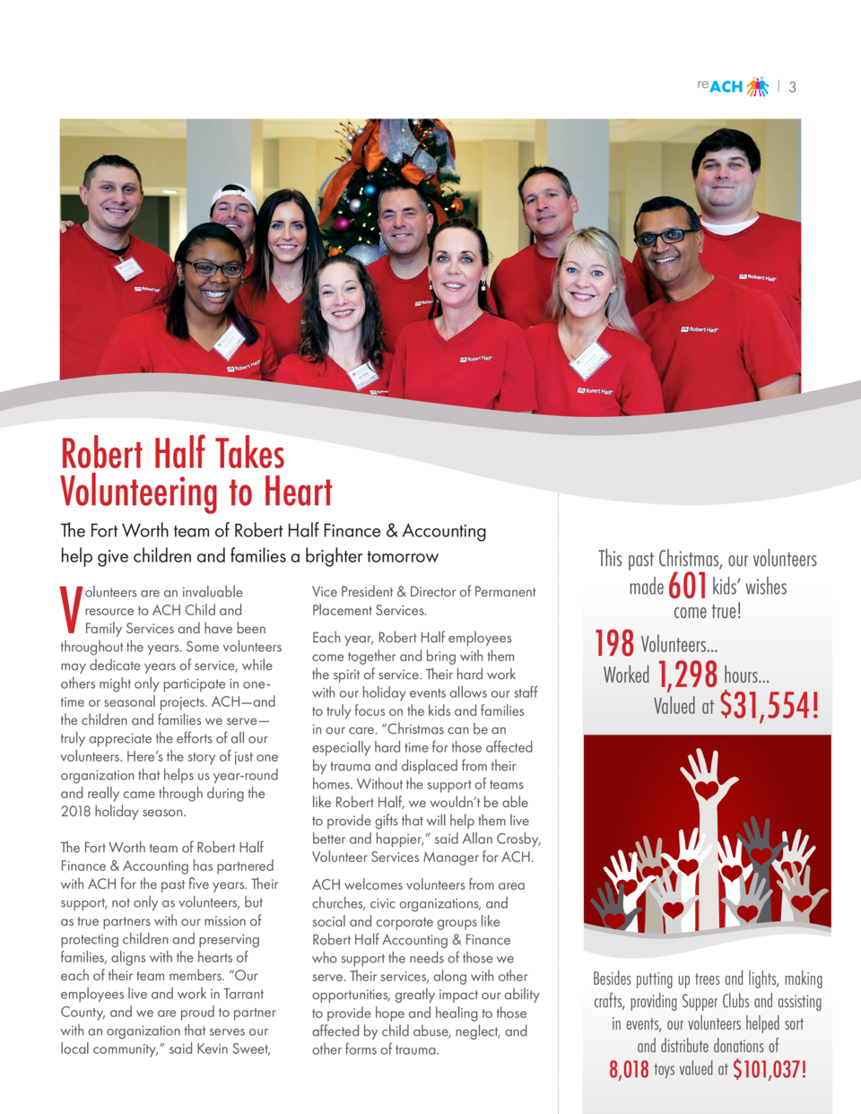 reACH  3  Robert Half Takes Volunteering to Heart The Fort Worth team of Robert Half Finance   Accounting help give childr...