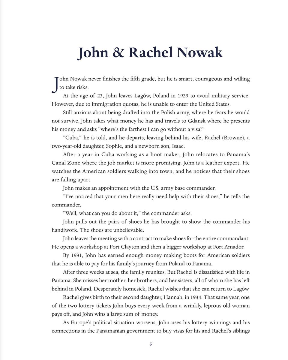 John   Rachel Nowak  J  ohn Nowak never finishes the fifth grade, but he is smart, courageous and willing to take risks. A...
