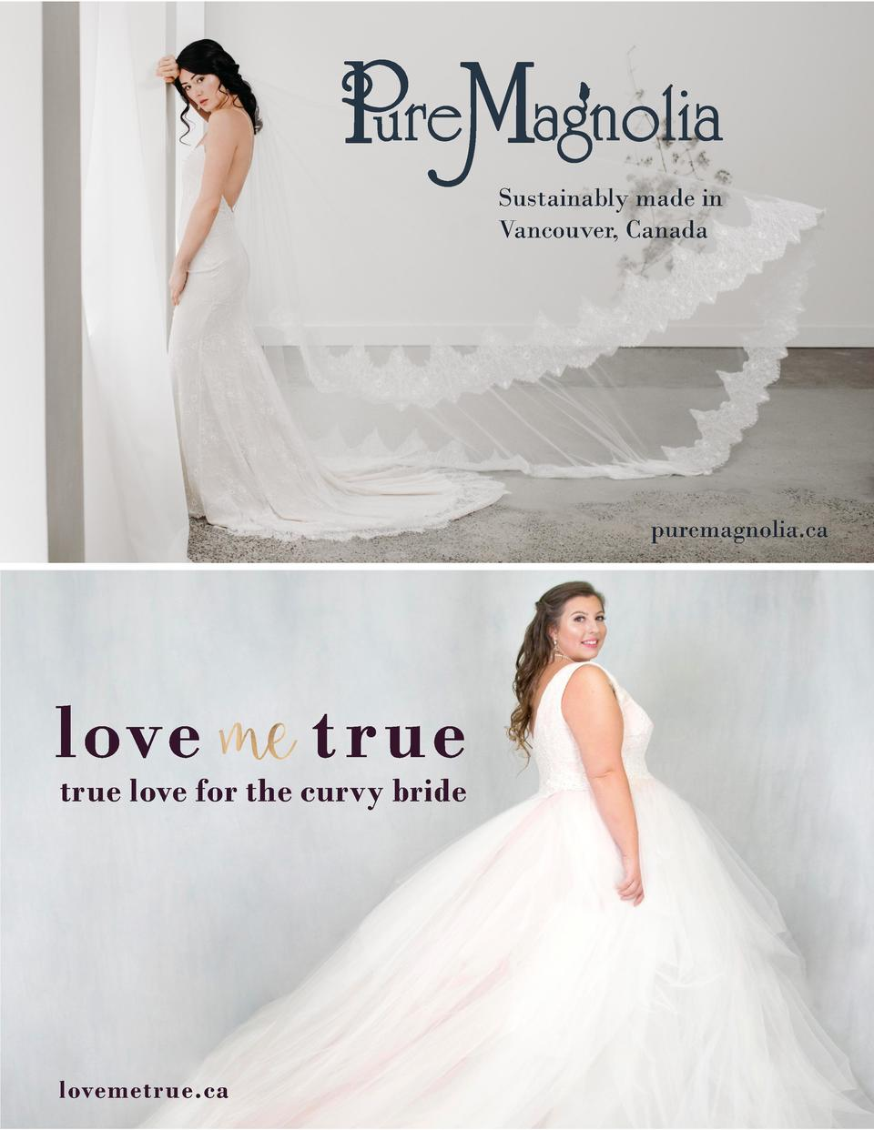 Sustainably made in Vancouver, Canada  puremagnolia.ca  true love for the curvy bride  lovemetrue.ca