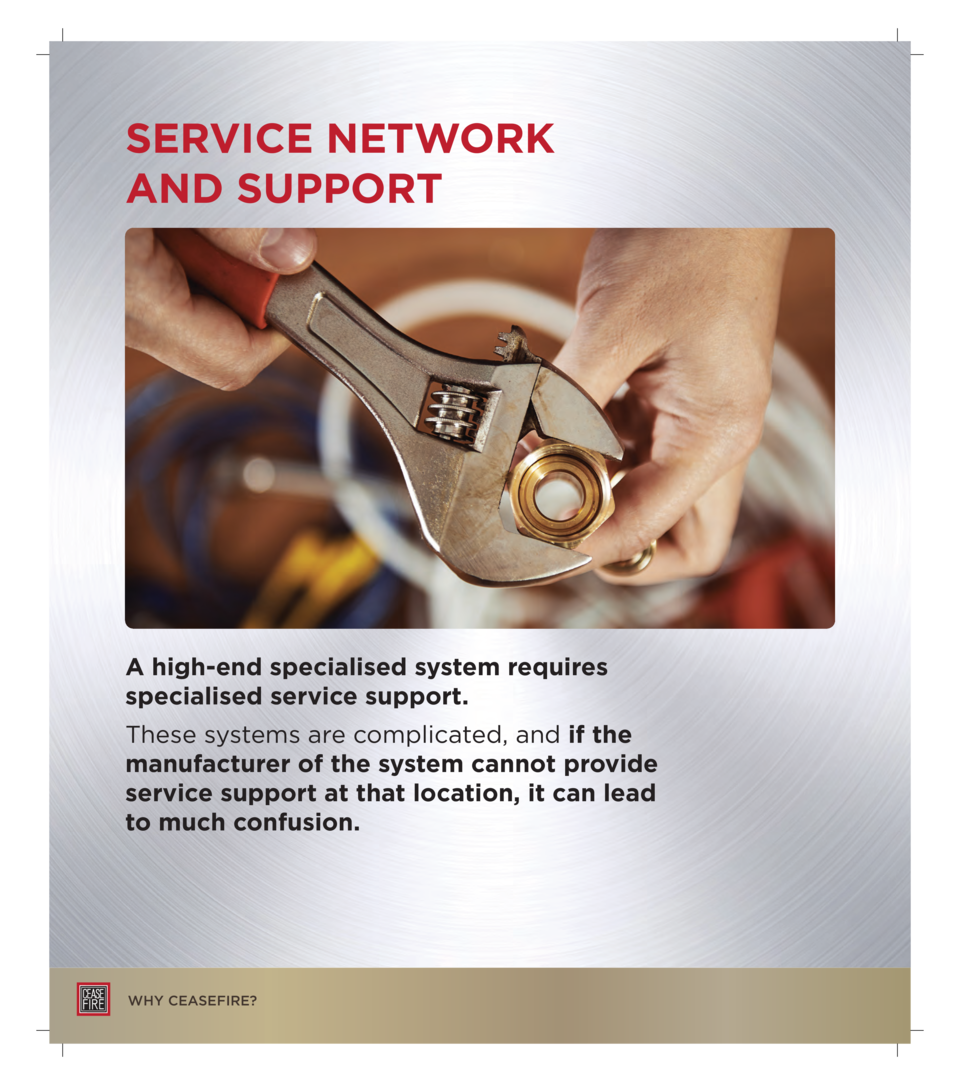 SERVICE NETWORK AND SUPPORT  A high-end specialised system requires specialised service support. These systems are complic...