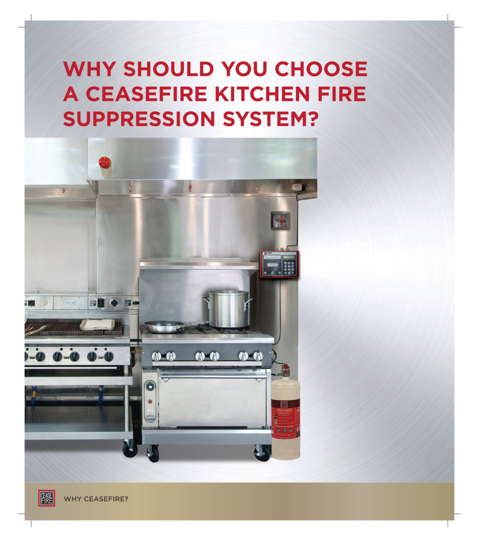 WHY SHOULD YOU CHOOSE A CEASEFIRE KITCHEN FIRE SUPPRESSION SYSTEM   WHY CEASEFIRE