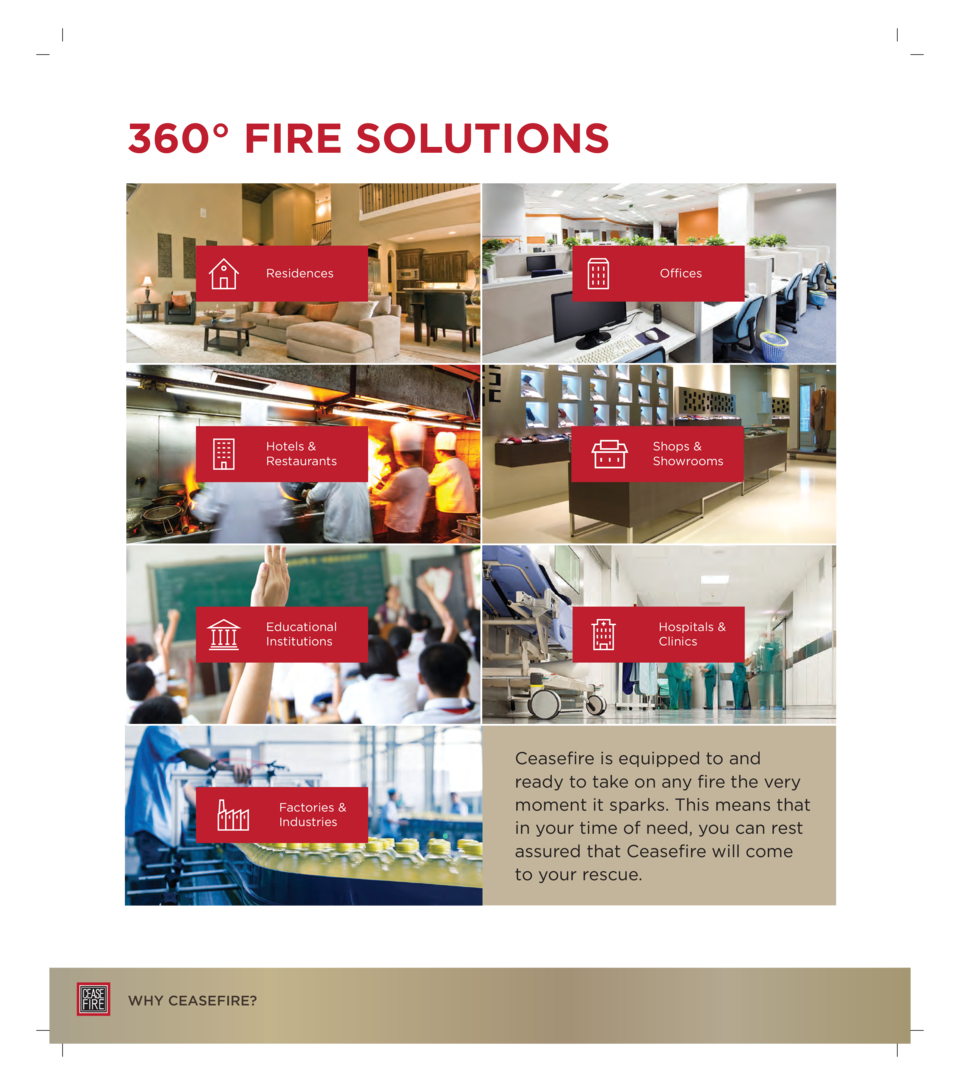 360   FIRE SOLUTIONS Residences  Hotels   Restaurants  Shops   Showrooms  Educational Institutions  Hospitals   Clinics  F...