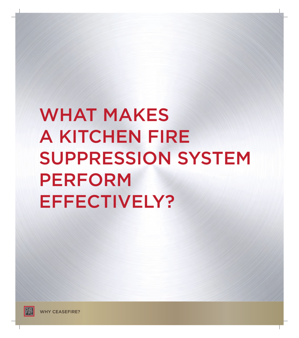 WHAT MAKES A KITCHEN FIRE SUPPRESSION SYSTEM PERFORM EFFECTIVELY   WHY CEASEFIRE