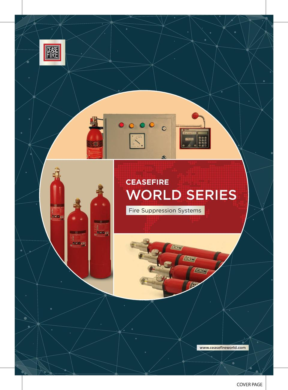 CEASEFIRE  WORLD SERIES Fire Suppression Systems  www.ceasefireworld.com  COVER PAGE