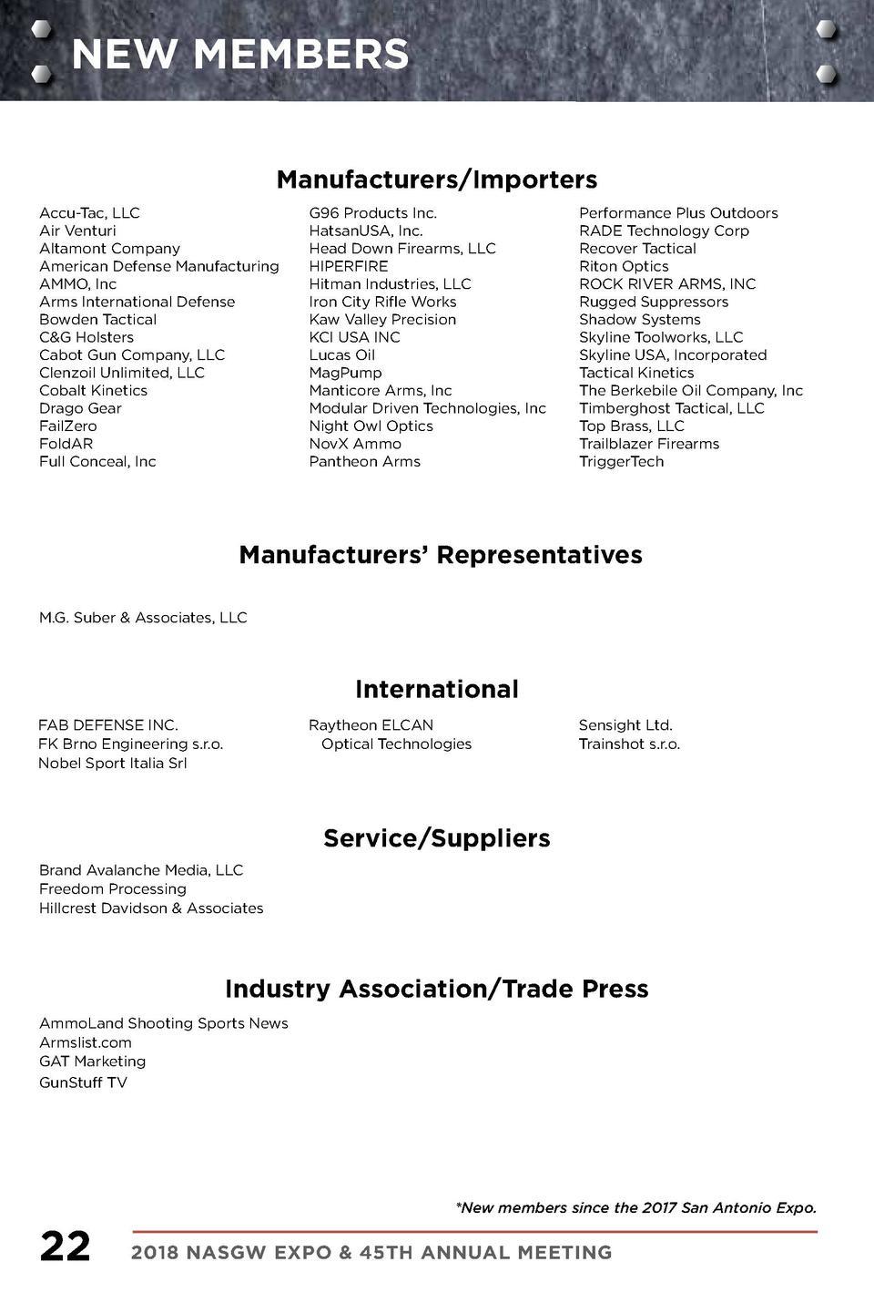 NASGW 2018 Member Directory : simplebooklet com