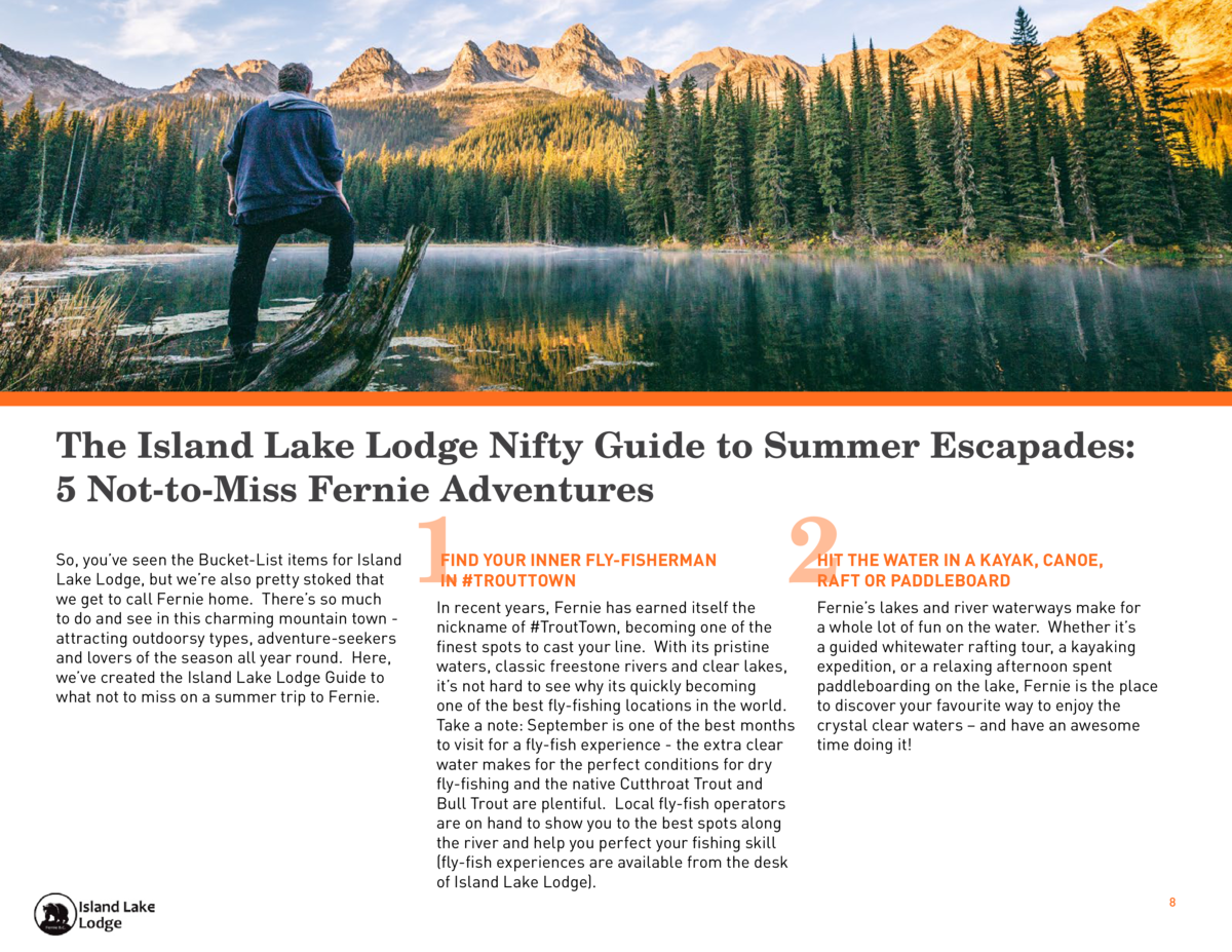 The Island Lake Lodge Nifty Guide to Summer Escapades  5 Not-to-Miss Fernie Adventures So, you   ve seen the Bucket-List i...