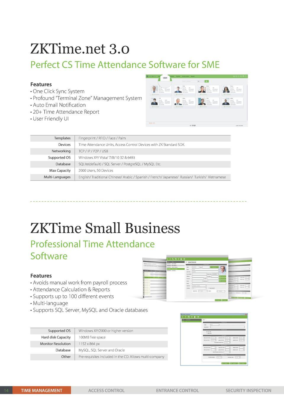 Madison : Zktime 3 0 attendance management software free
