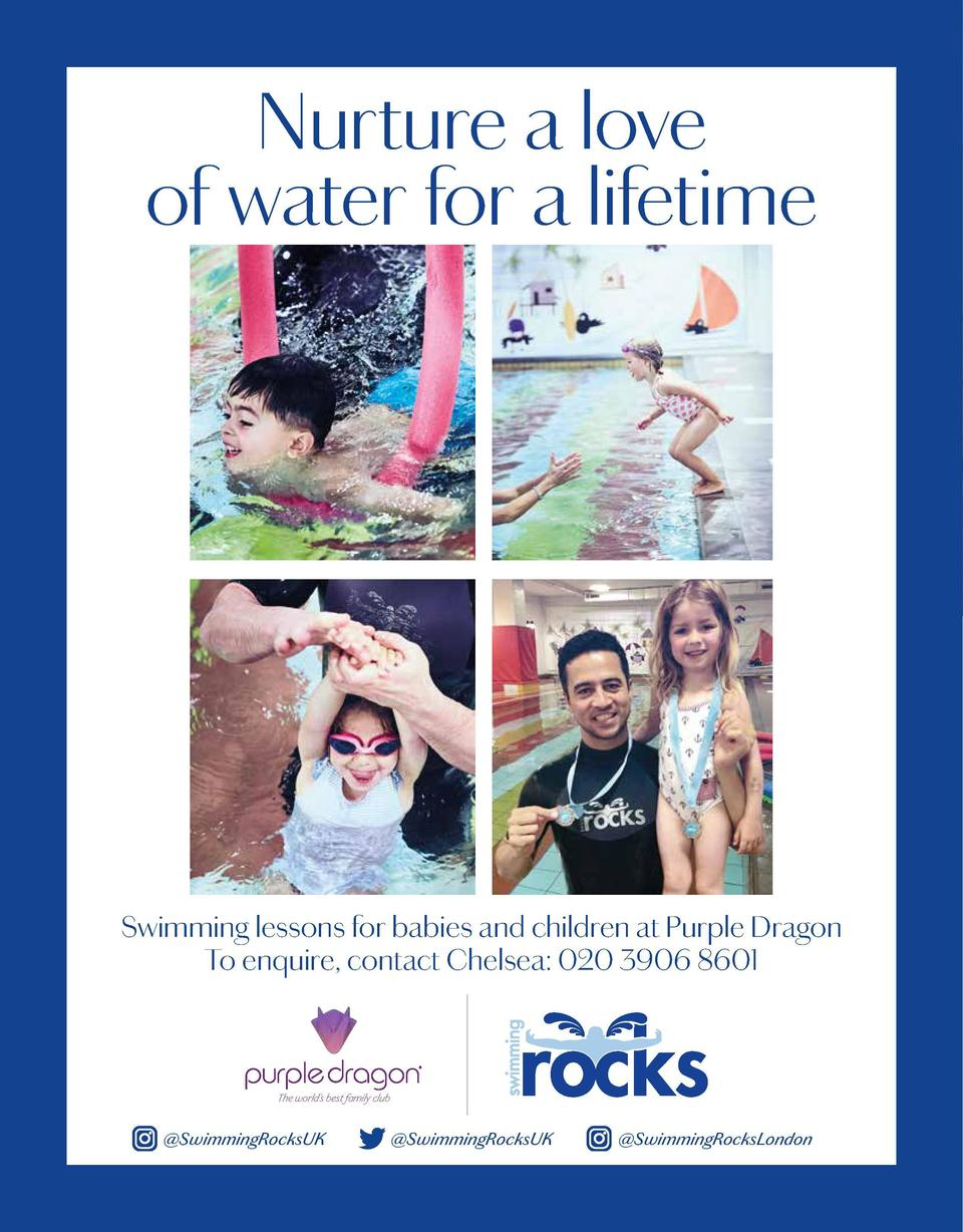 Nurture a love of water for a lifetime  Swimming lessons for babies and children at Purple Dragon To enquire, contact Chel...