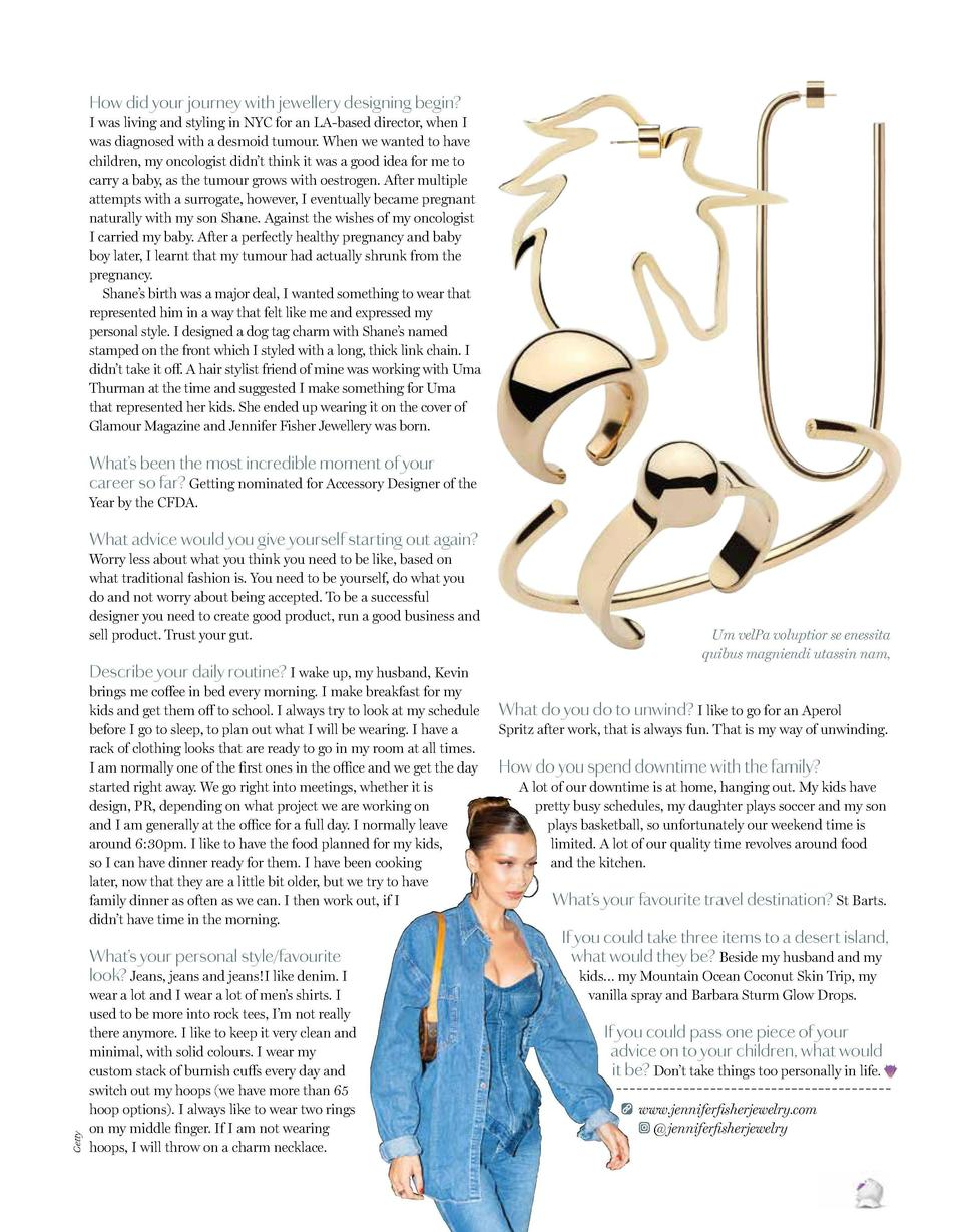 How I make it work    How did your journey with jewellery designing begin   JENNIFER FISHER  I was living and styling in N...