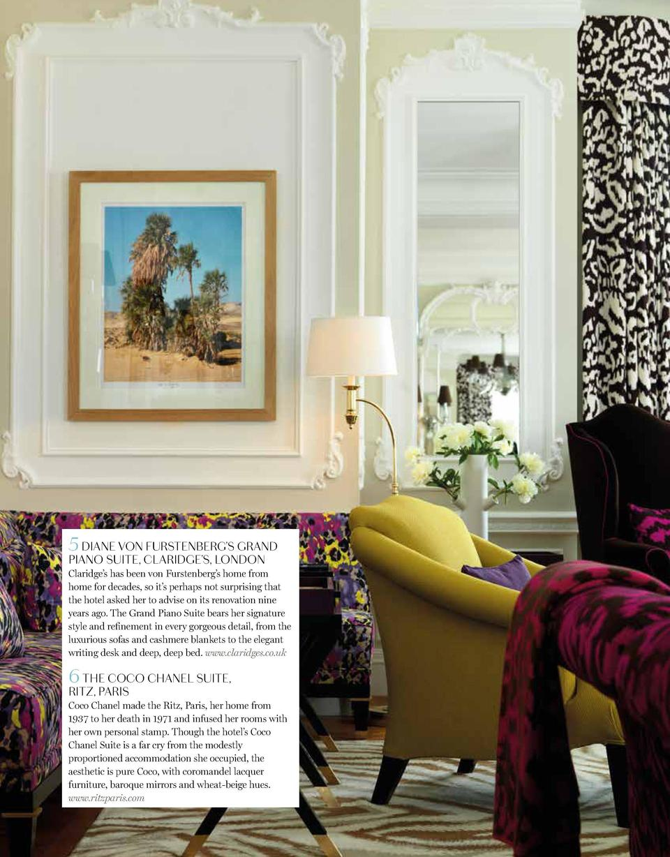 Travel  5 DIANE VON FURSTENBERG   S GRAND PIANO SUITE, CLARIDGE   S, LONDON 2 RALPH LAUREN   S PINEAPPLE HOUSE, ROUNDHILL ...