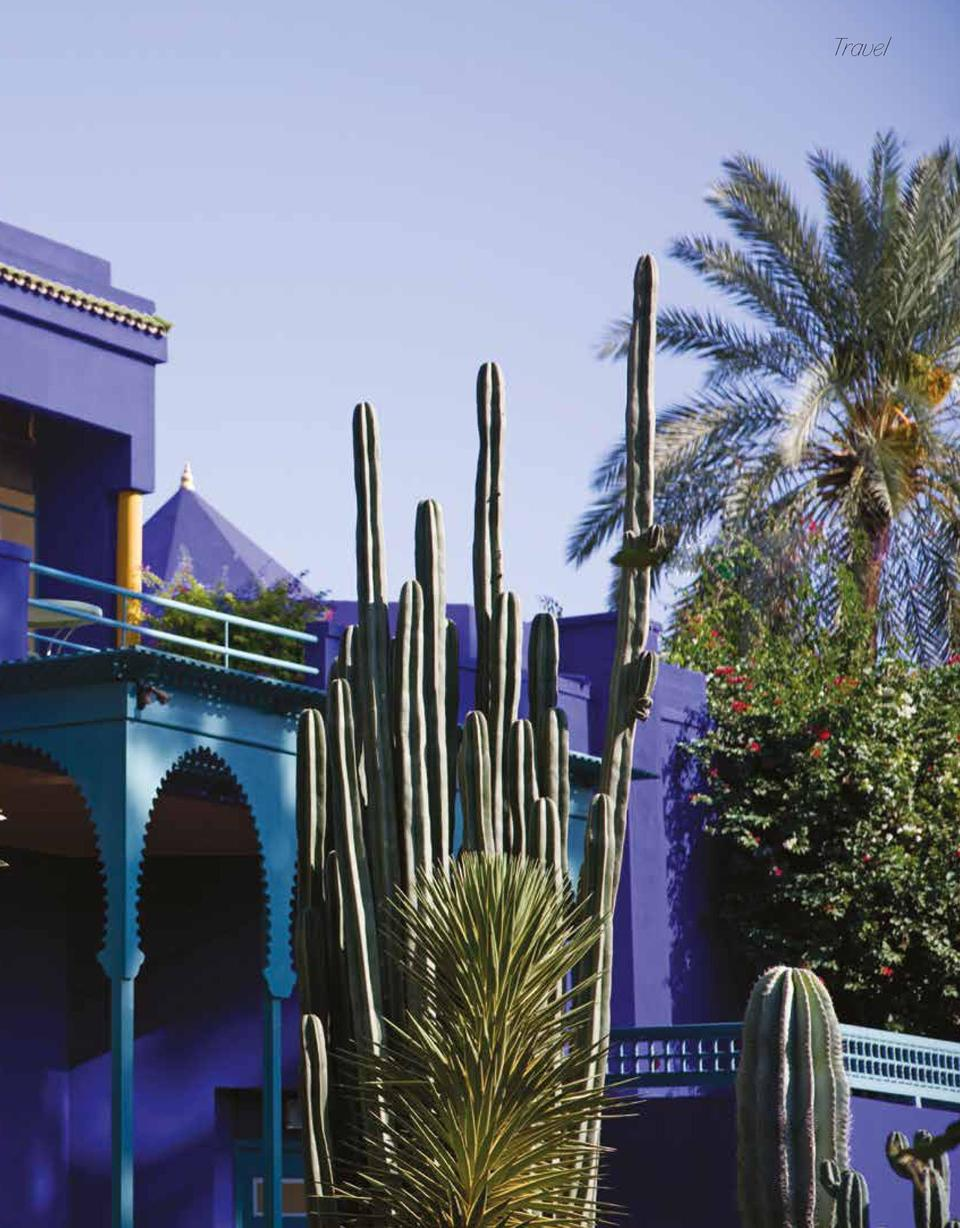 Travel  7 YVES SAINT LAURENT   S VILLA OASIS, MARRAKECH Marrakech and the Jardin Majorelle struck Saint Laurent like a lov...