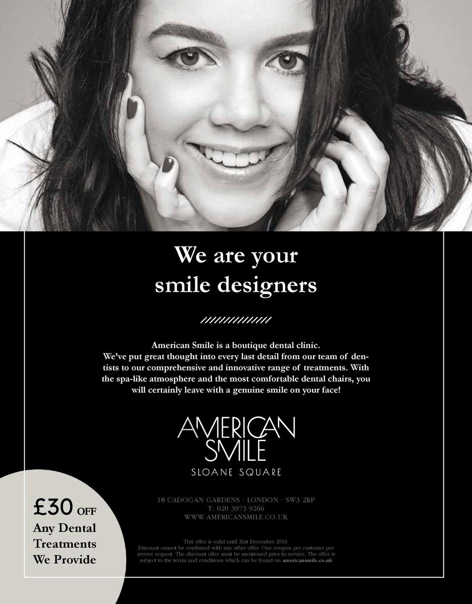 We are your smile designers American Smile is a boutique dental clinic. We   ve put great thought into every last detail f...