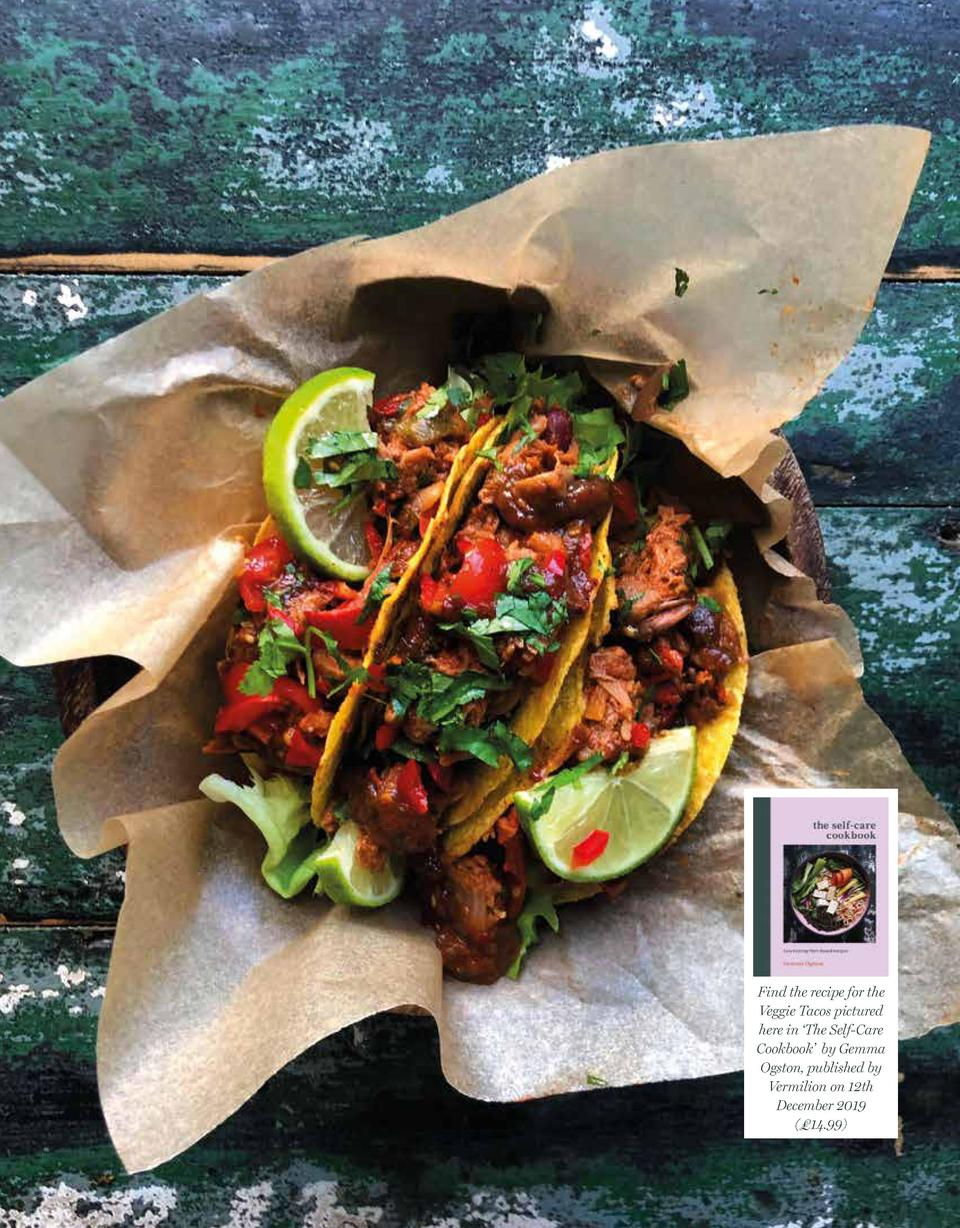 Find the recipe for the Veggie Tacos pictured here in    The Self-Care Cookbook    by Gemma Ogston, published by Vermilion...