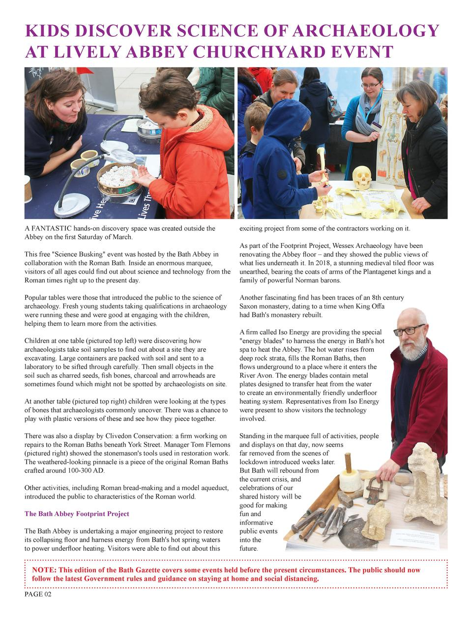 KIDS DISCOVER SCIENCE OF ARCHAEOLOGY AT LIVELY ABBEY CHURCHYARD EVENT  A FANTASTIC hands-on discovery space was created ou...