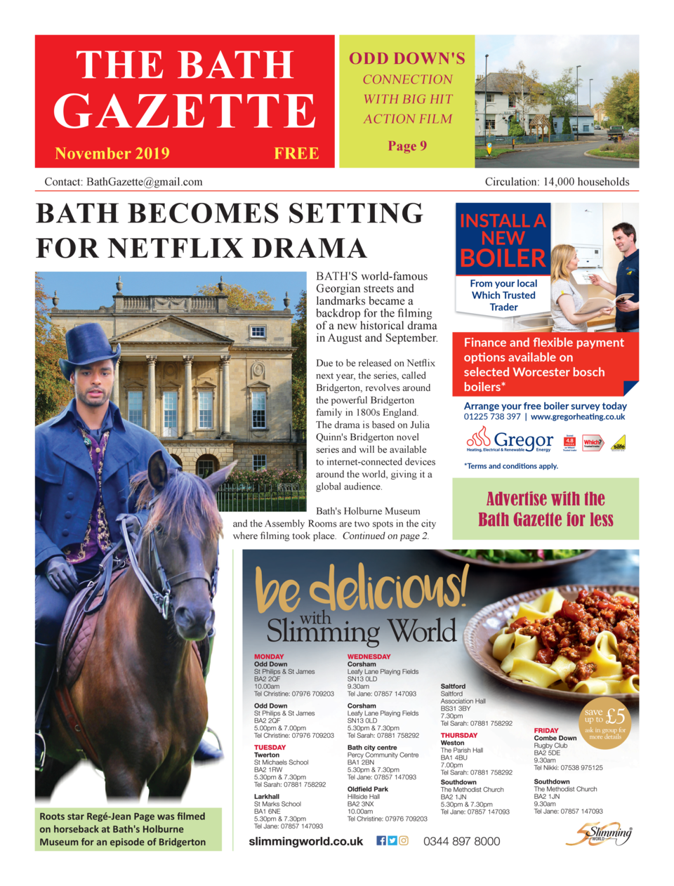 THE BATH  ODD DOWN S  GAZETTE November 2019  FREE  CONNECTION WITH BIG HIT ACTION FILM  Page 9  Contact  BathGazette gmail...