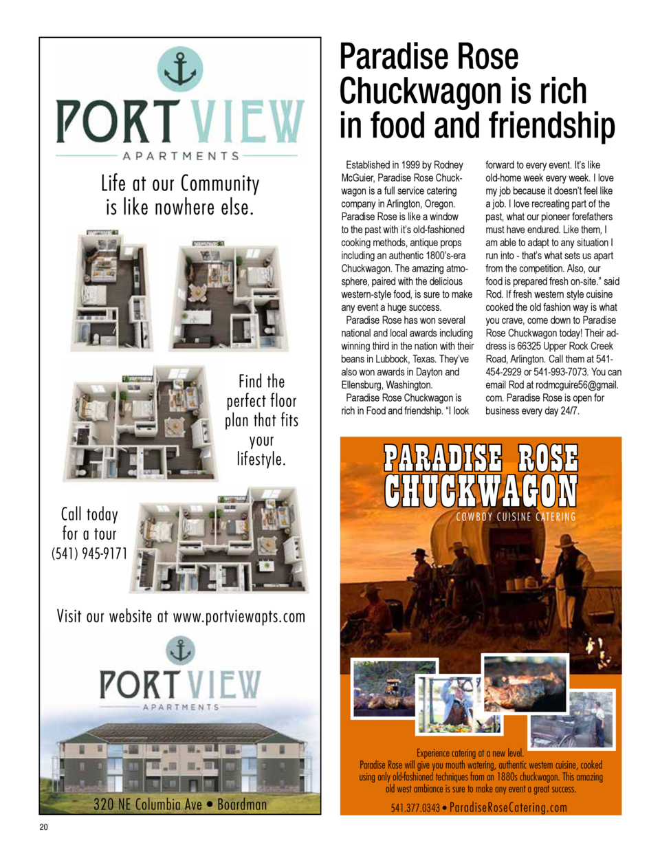 Paradise Rose Chuckwagon is rich in food and friendship Life at our Community is like nowhere else.  Established in 1999 b...