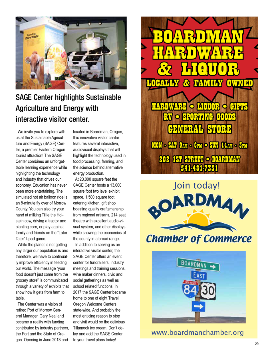 BOARDMAN HARDWARE   LIQUOR  LOCALLY   FAMILY OWNED  2018 Grant Recipient  Business Incentive Grant Program START UP. ENHAN...