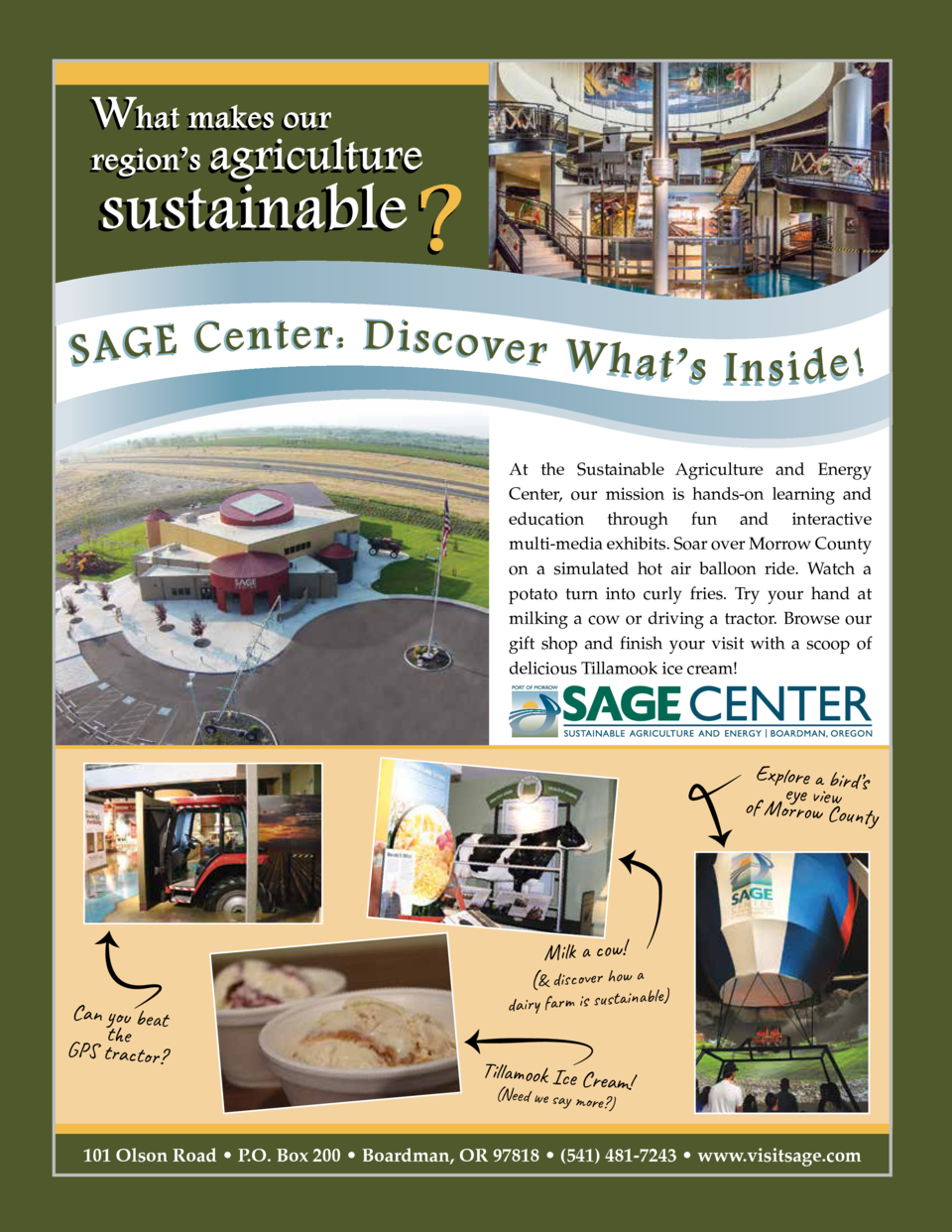What makes our  region   s agriculture  sustainable    S A G E C e n t e r   D i s co ve r W h a t    s I n s i d e   At t...