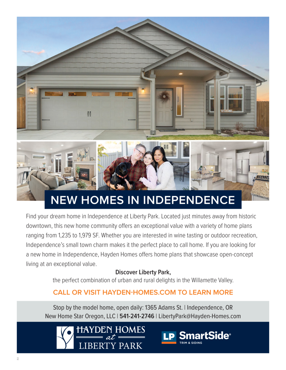 NEW HOMES IN INDEPENDENCE Find your dream home in Independence at Liberty Park. Located just minutes away from historic do...