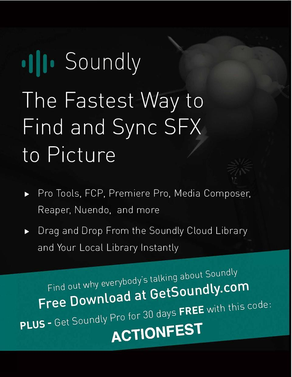 Soundly The Fastest Way to Find and Sync SFX to Picture      Pro Tools. FCP. Premiere Pro, Media Composer. Reaper, Nuendo,...