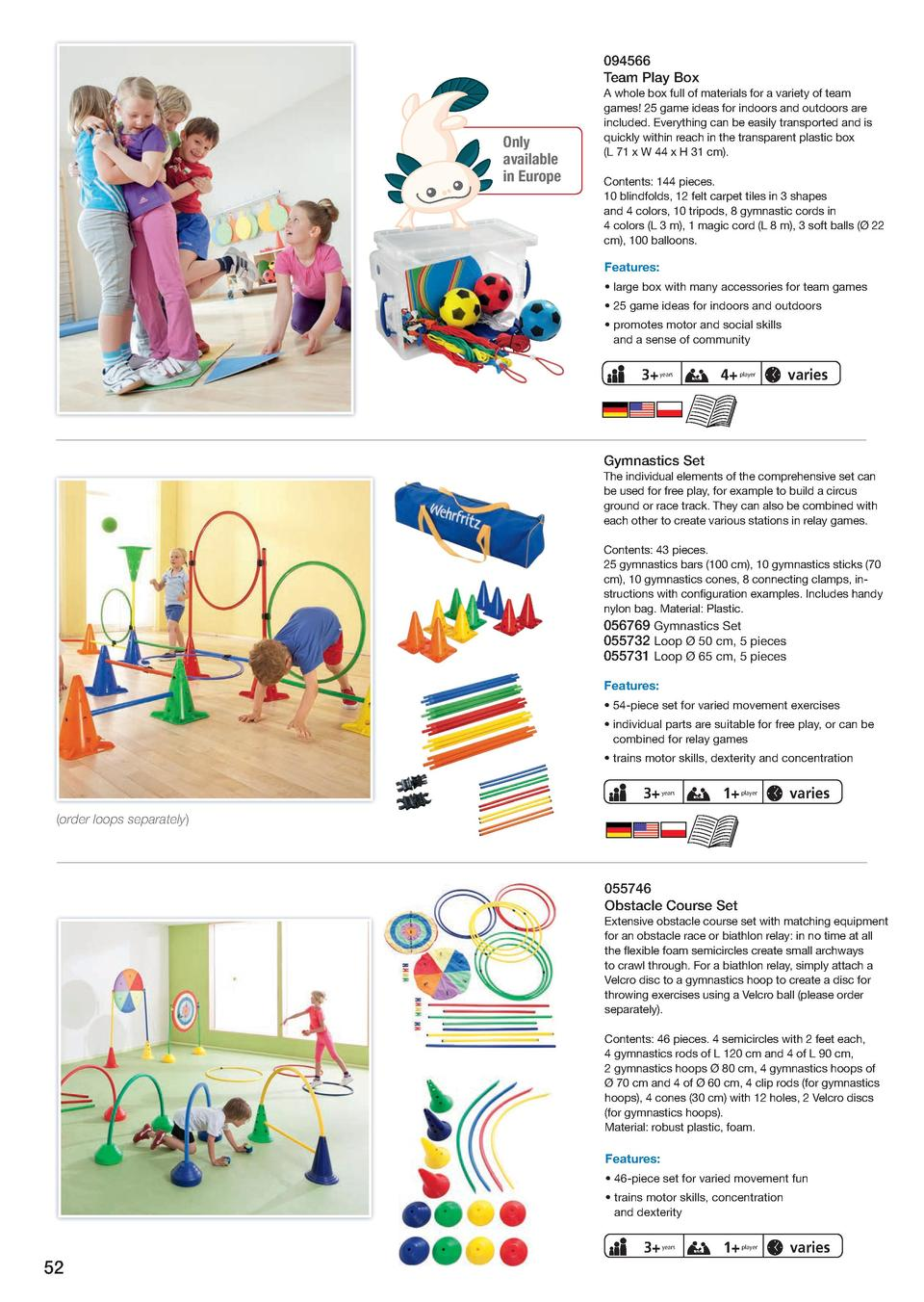 48 Piece Set Constructive Playthings Create-A-Course Set Obstacle Course and Game Markers