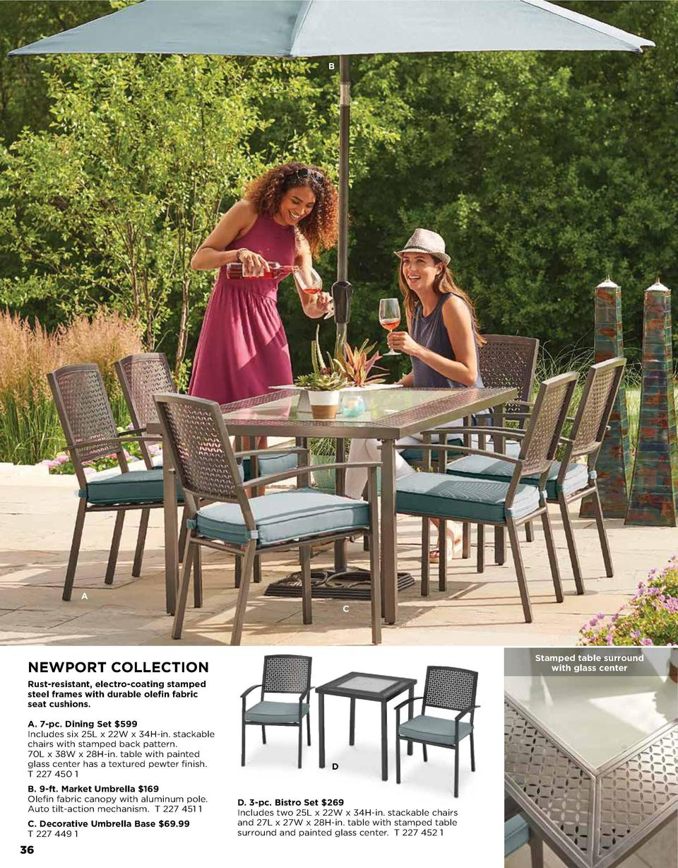 Garden & Patio Furniture or 9 Piece Set New Outdoor Seat Cushion