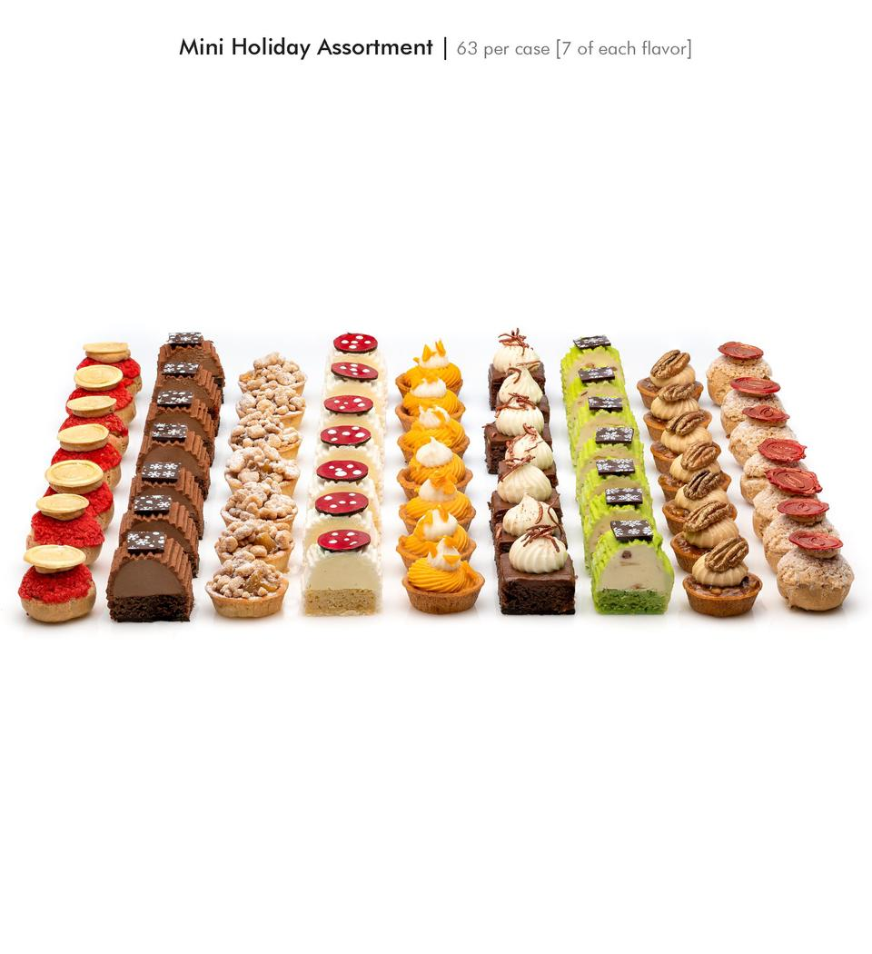 Mini Holiday Assortment   63 per case  7 of each flavor