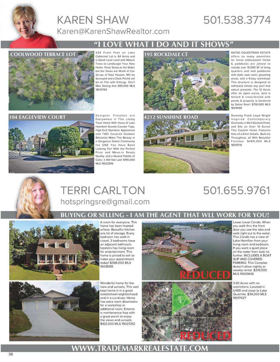 KAREN SHAW  501.538.3774  Karen KarenShawRealtor.com     I LOVE WHAT I DO AND IT SHOWS    COOLWOOD TERRACE LOT  104 EAGLEV...