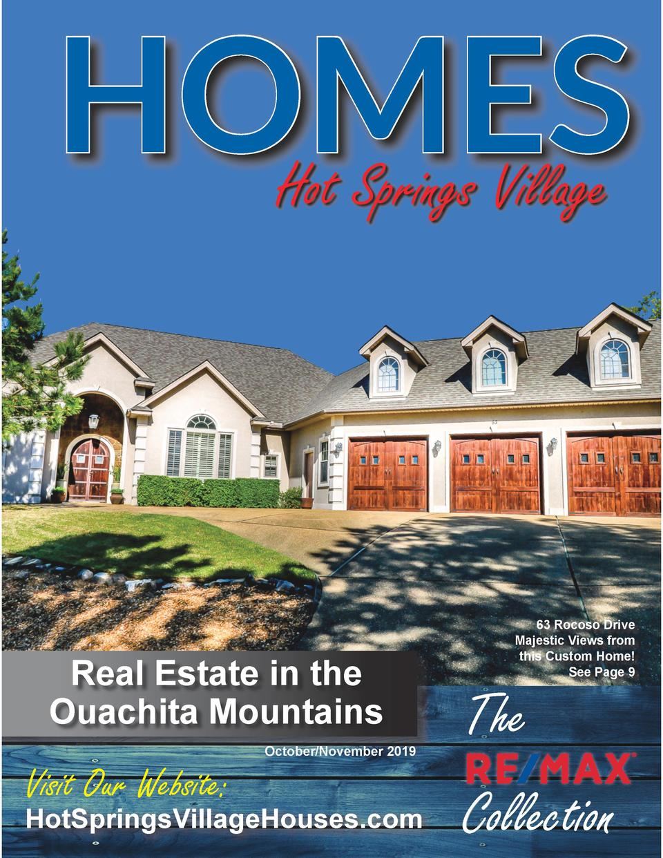 HOMES Hot Springs Village  Real Estate in the Ouachita Mountains October November 2019  Visit Our Website   HotSpringsVill...