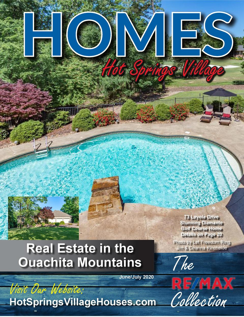 HOMES Hot Springs Village 73 Loyola Drive Stunning Diamante Golf Course Home Details on Page 20  Real Estate in the Ouachi...