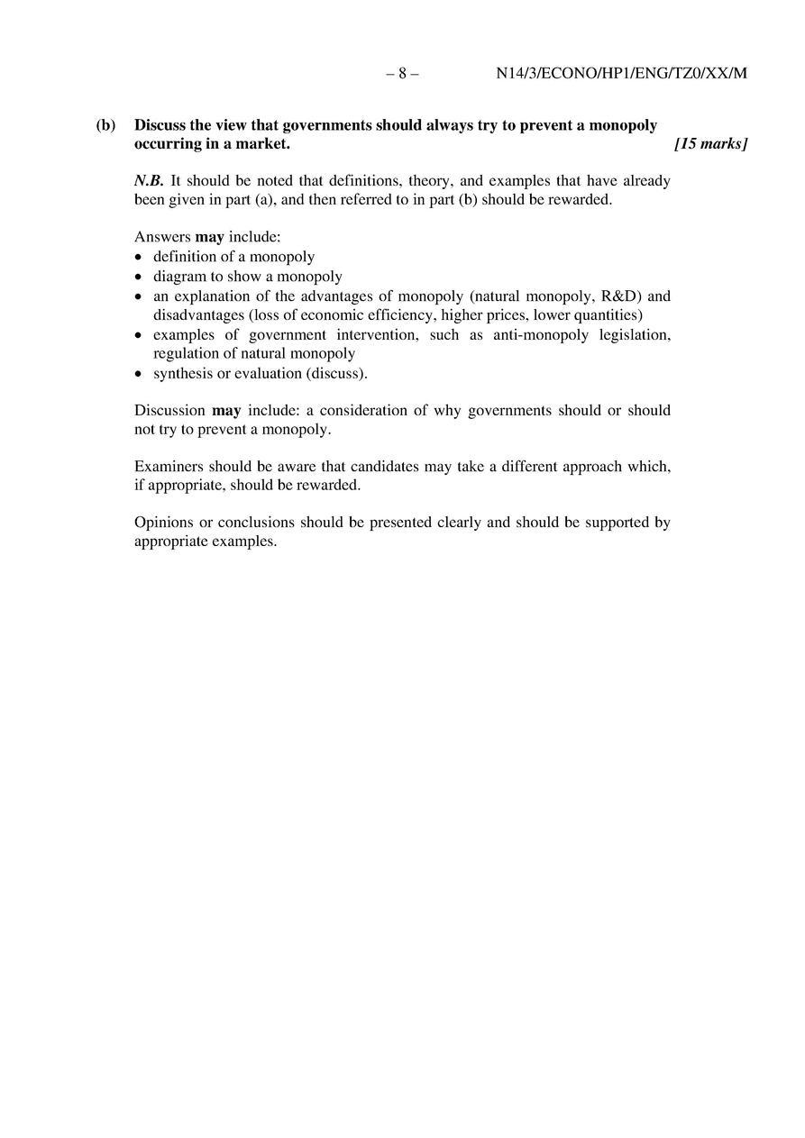 IB Economics 2014 Exams : simplebooklet com