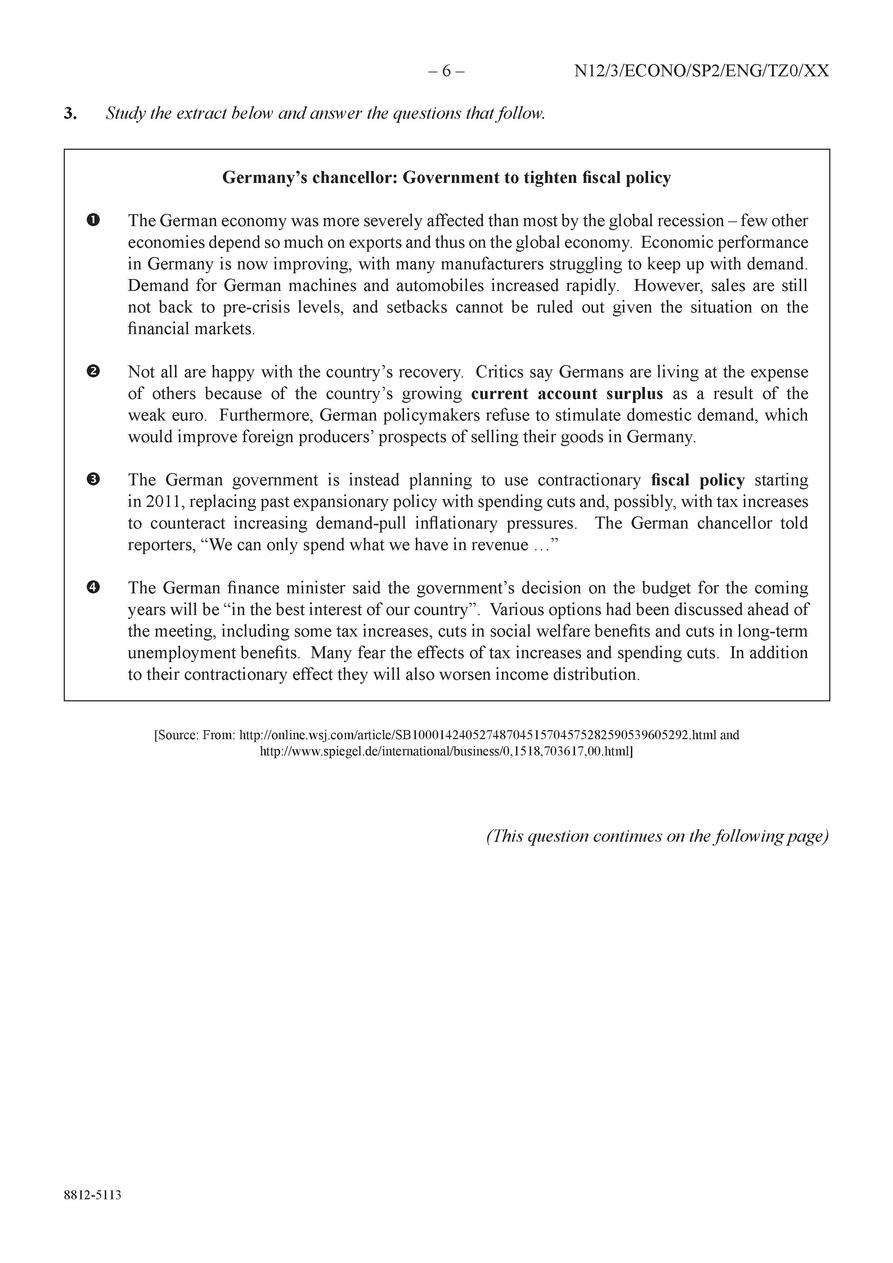 2012 Exams IB Economics : simplebooklet com